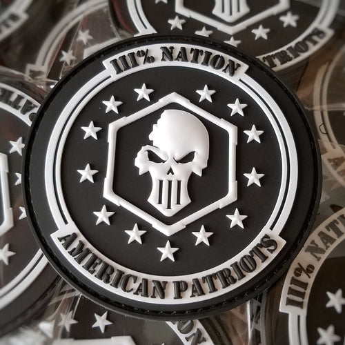 Three Percent Nation Velcro Patch and Sticker Pack