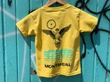 Bikurious toddler t-shirt jaune poussin