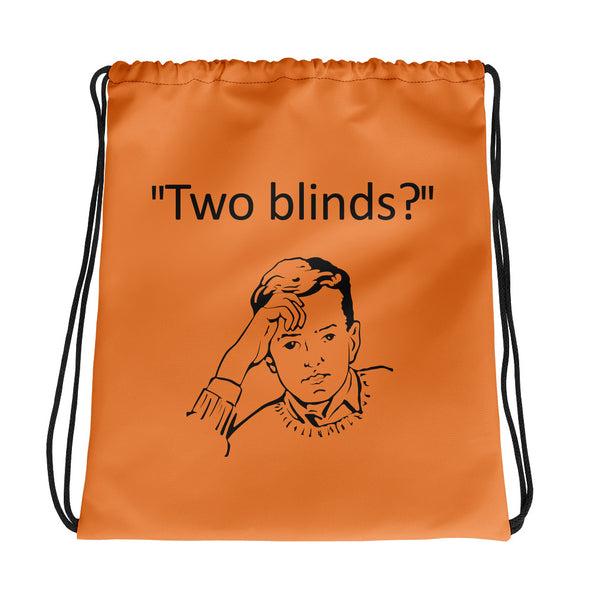 Two Blinds Drawstring Bag