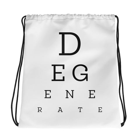 Eye Test Drawstring Bag