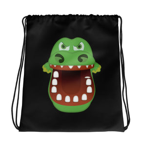 Croc Teeth Drawstring Bag