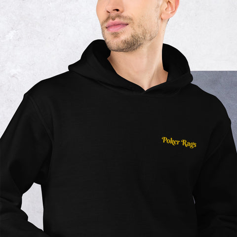 Poker Rags Embroidered Heavy Duty Hoodie