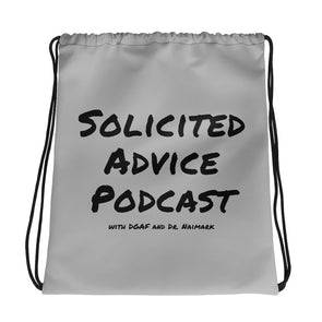 Solicited Advice Podcast Drawstring Bag