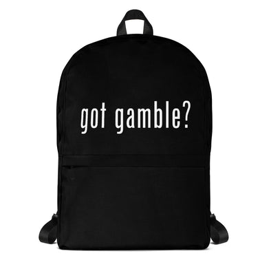 got gamble? Backpack