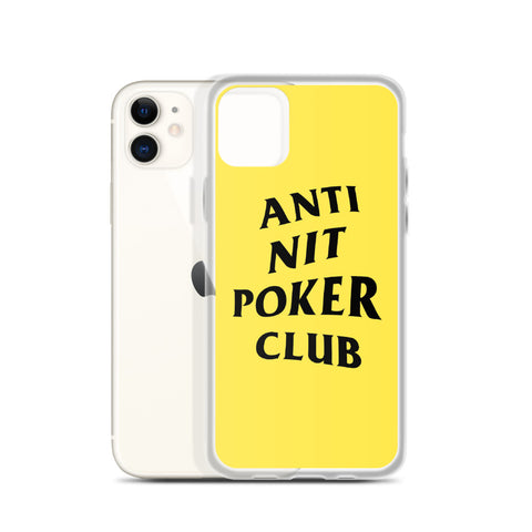 Anti Nit Poker Club iPhone Case