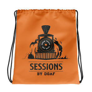 Spew Train Drawstring Bag