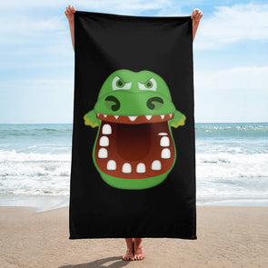 Croc Teeth Beach Towel