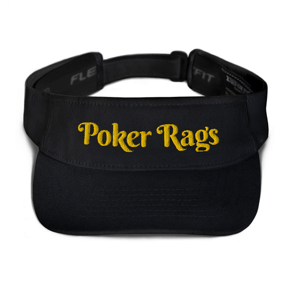 Poker Rags Embroidered Visor