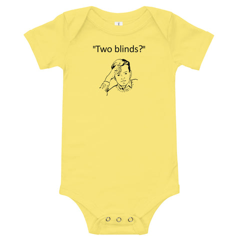 Two Blinds Onesie