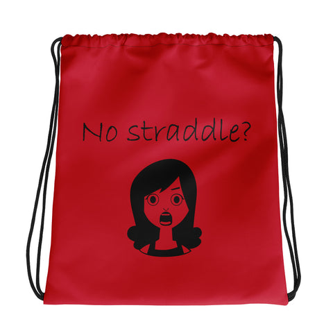 Straddle Crisis Drawstring Bag