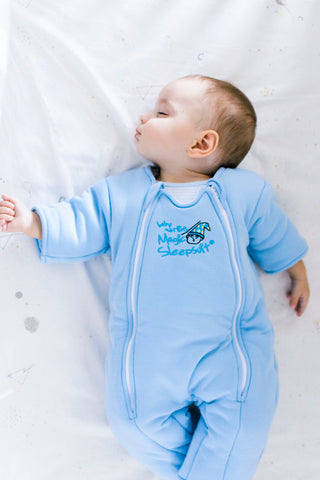 Baby Blue Magic Sleepsuit
