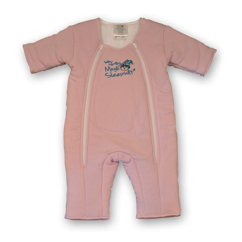 Non-Zipper Covered Original Pink Cotton Magic Sleepsuit