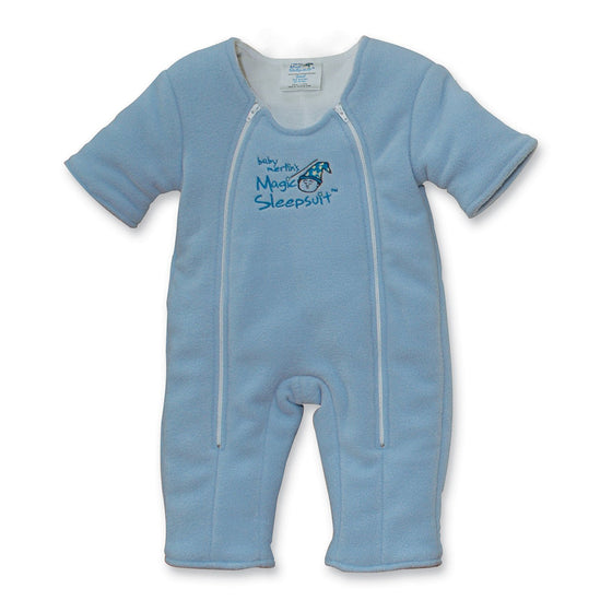Non-Zipper Covered Original Blue Microfleece Magic Sleepsuit