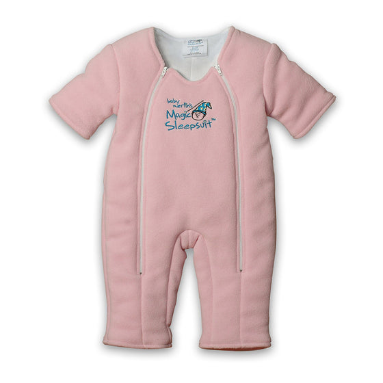 Non-Zipper Covered Original Pink Microfleece Magic Sleepsuit