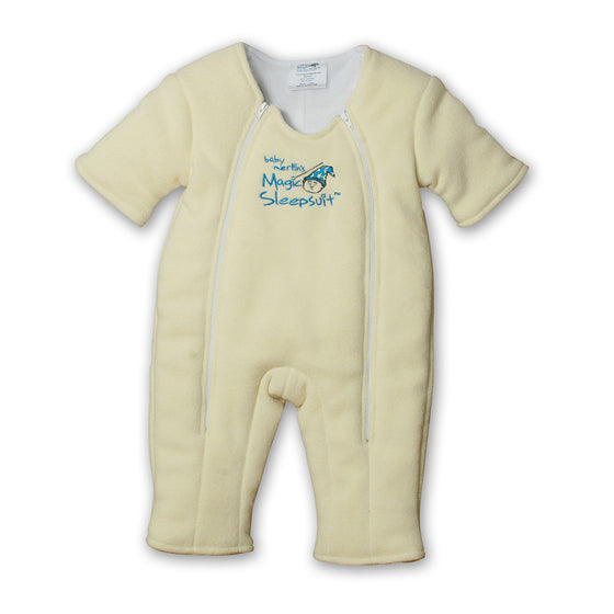 Non-Zipper Covered Yellow Microfleece Magic Sleepsuit