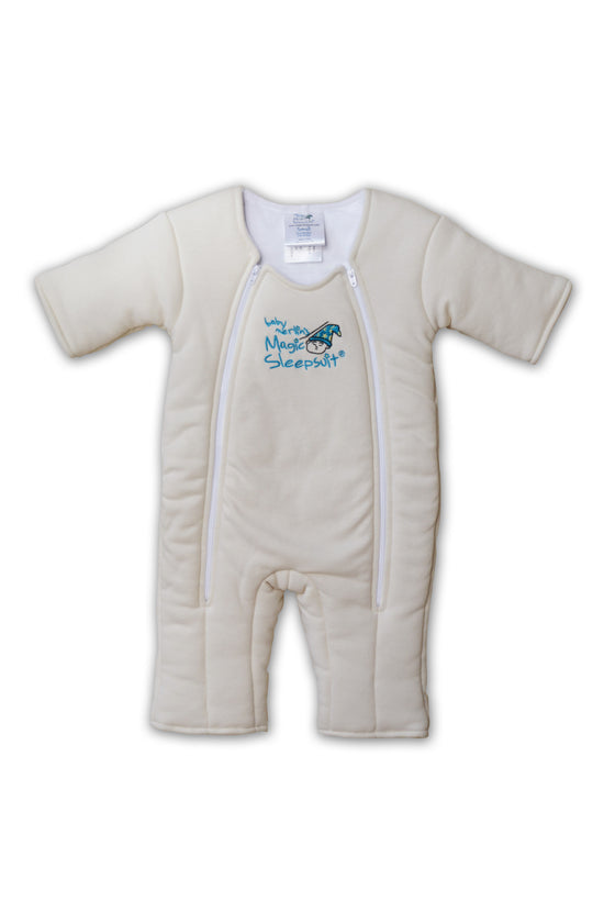 Non-Zipper Covered Original Cream Cotton Magic Sleepsuit