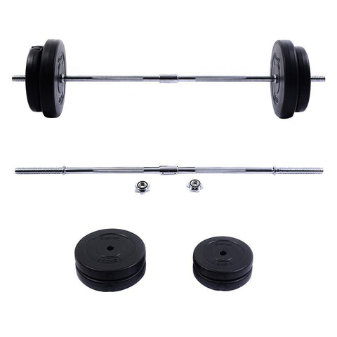 Barbell Set | Straight Bar | 4 Plates | 66 Lbs-Barbells-Ambitious Athletic Goods