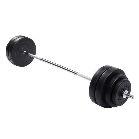 Barbell Set - Straight Bar | 8 Plates | 132 Lbs-Barbells-Ambitious Athletic Goods