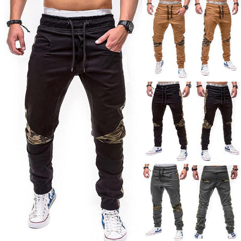 Men's Camouflage Patchwork Jogger Sweatpants - 3 Colors-Men's Jogger Sweatpants-Ambitious Athletic Goods