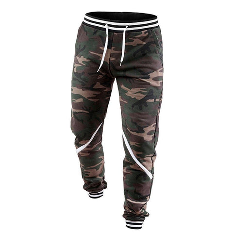 Men's Camouflage With Stripes Jogger Sweatpants - 1 Color-Men's Jogger Sweatpants-Ambitious Athletic Goods