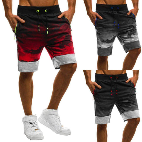 Men's Exercise Shorts | Gradient Camouflage | 3 Colors-Men's Shorts-Ambitious Athletic Goods