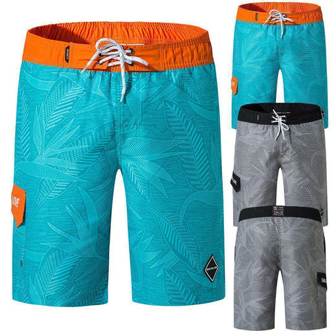 Men's Floral Casual Swimsuit With Cargo Pocket - 2 Colors-Men's Casual Swimsuits-Ambitious Athletic Goods