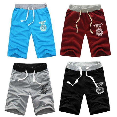 Men's Solid Color Mountain Top Exercise Shorts - 4 Colors-Men's Shorts-Ambitious Athletic Goods