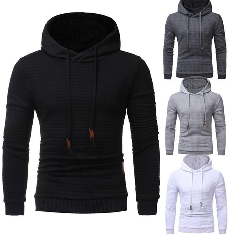 Men's Solid Color Textured Pullover Hoodie - 4 Colors-Men's Hoodies-Ambitious Athletic Goods