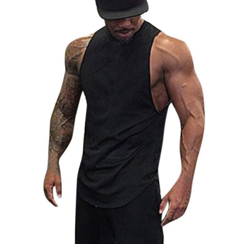 Men's Solid O-Neck Tank Top - 2 Colors-Men's Tank Tops-Ambitious Athletic Goods