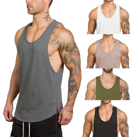 Men's Solid U-Neck Tank Top - 5 Colors-Men's Tank Tops-Ambitious Athletic Goods