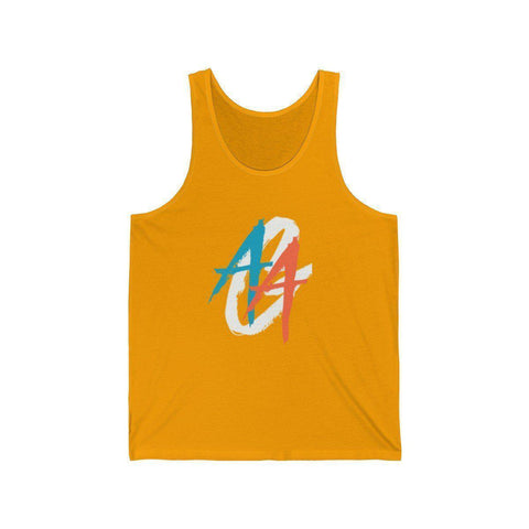 Men's Tank Top | A.A.G. Exclusive Design - White Logo | 16 Colors-Men's Tank Tops-Ambitious Athletic Goods