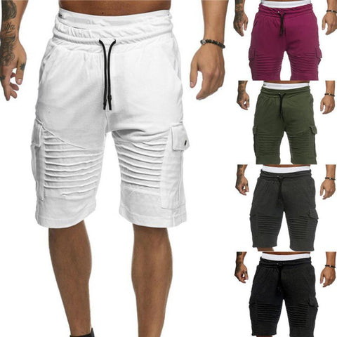 Men's Textured Patchwork Exercise Shorts - 4 Colors-Men's Shorts-Ambitious Athletic Goods