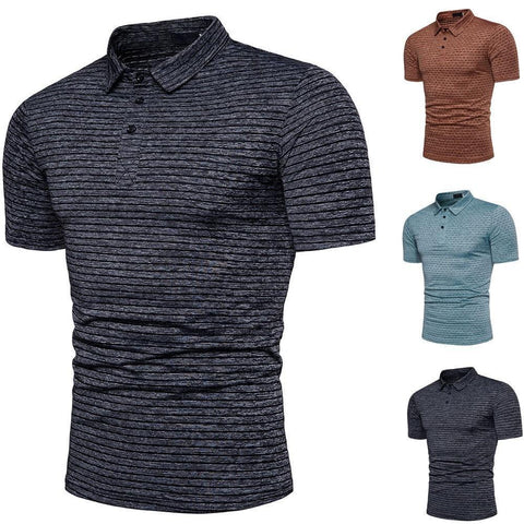 Men's Textured Polo Shirt - 3 Colors-Men's Polo Shirts-Ambitious Athletic Goods