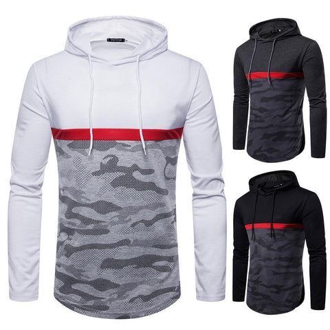 Men's Two Tone Camouflage Pullover Hoodie - 3 Colors-Men's Hoodies-Ambitious Athletic Goods