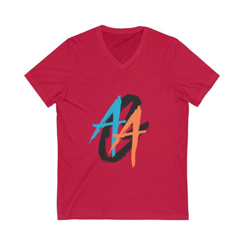 Men's V-Neck T-Shirt | A.A.G. Exclusive Design - Black Logo | 14 Colors-Men's T-Shirts-Ambitious Athletic Goods