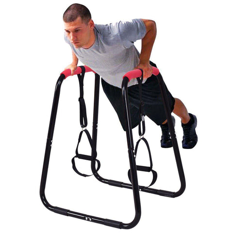 Power Tower | Dip Stand With Slings-Power Towers-Ambitious Athletic Goods