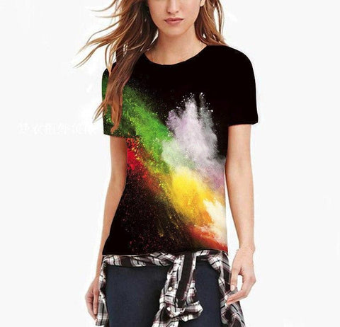 Women's Color Explosion T-Shirt - 1 Color-Women's T-Shirts-Ambitious Athletic Goods
