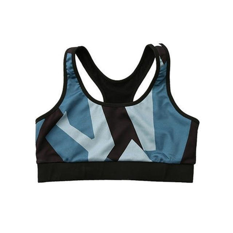 Women's Geometric Sports Bra - 1 Color-Women's Sports Bras-Ambitious Athletic Goods