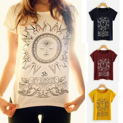 Women's Hey There Sunshine T-Shirt - 5 Colors-Women's T-Shirts-Ambitious Athletic Goods