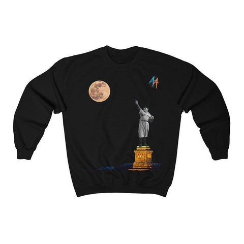 Women's Statue Of Babe Ruth Sweatshirt - Exclusive A.A.G. Design - 19 Colors-Women's Sweatshirts-Ambitious Athletic Goods