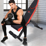Workout Bench | Adjustable | Leg Stabilizer-Benches-Ambitious Athletic Goods