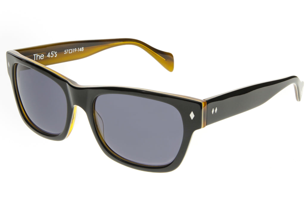 Tres Noir 45's Black Honey Tortoise Angle