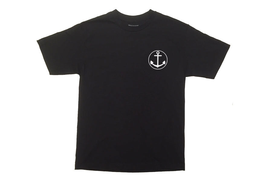 Tres Noir Anchor - Mens T-Shirt