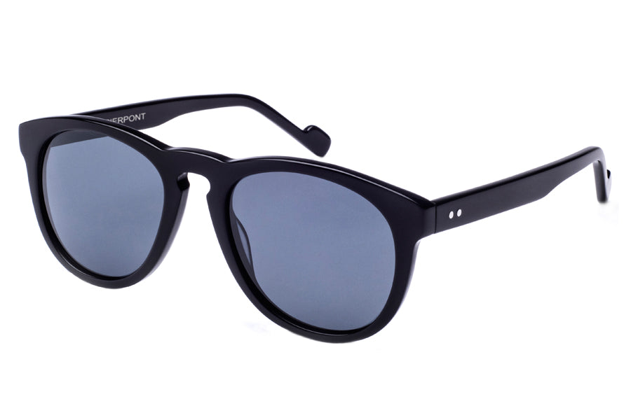 Crimson Visual : Pierpont - Shiny Black / Smoke Polarized