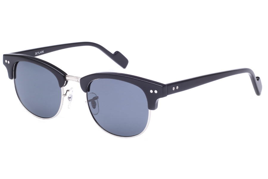 Crimson Visual : Skylark - Sliver + Black / Smoke Polarized