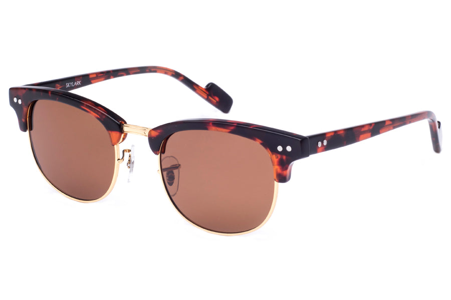 Crimson Visual : Skylark - Gold + Havana Tort / Brown Polarized