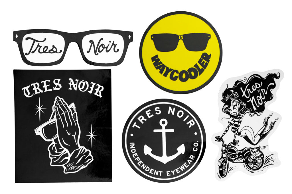 Tres Noir 5pc Sticker Pack