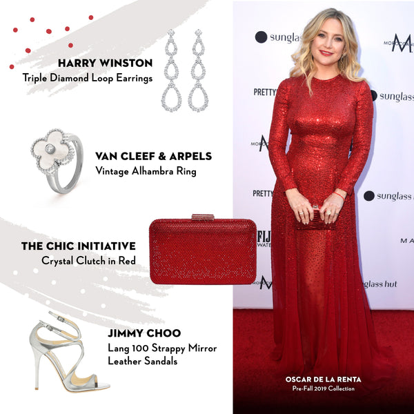 Kate Hudson The Chic Initiative Crystal Clutch Red
