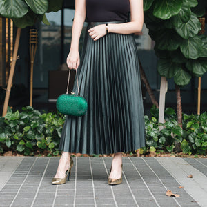 Raphael Crystal Clutch (Green) 8| The Chic Initiative | Malaysian label of specially designed clutches, evening bags and minaudieres | Free shipping to Malaysia Singapore Brunei
