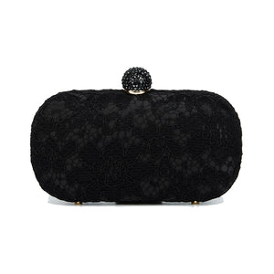 Carmen Lace Clutch in Black 1 | The Chic Initiative | Malaysian label of specially designed clutches, evening bags and minaudieres | Free shipping to Malaysia Singapore Brunei